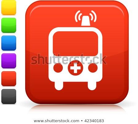 six ambulance icons stock photo © nickylarson974