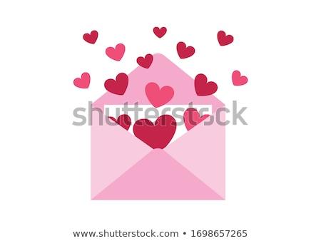 corações · envelope · ícone · vermelho · e-mail · assinar - foto stock © heliburcka