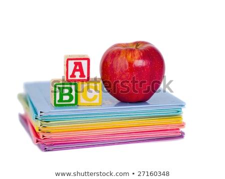 blocchi · mela · libri · bambini · scuola · bambino - foto d'archivio © frankljr