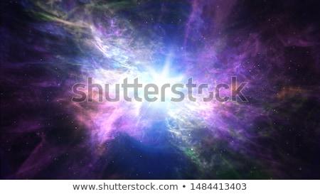 Kozmik enerji örnek çift yoga dengelemek Stok fotoğraf © adrenalina