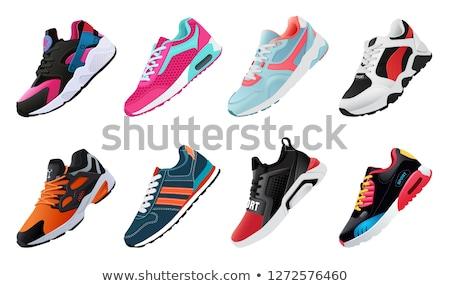 Spor ayakkabı beyaz çocuk çalışma Stok fotoğraf © Kidza