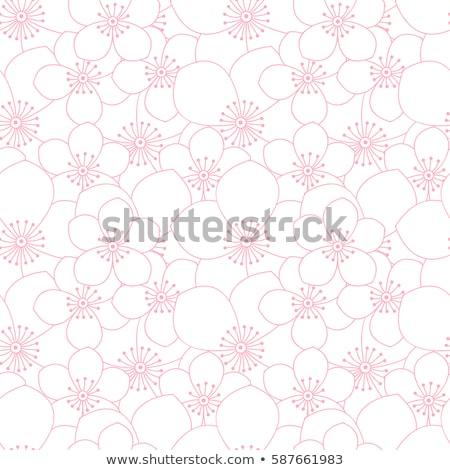 Cute line modello di fiore texture sfondo tessuto Foto d'archivio © SArts