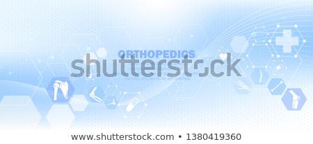 knee pain abstract background stock photo © tefi