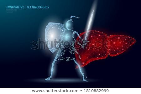 Menselijke lever beschermd 3d illustration medische Stockfoto © tussik