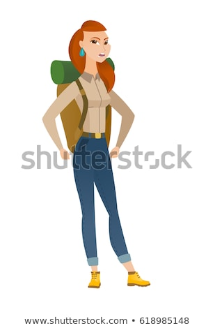 Furious traveler screaming vector illustration. Stock photo © RAStudio