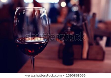 Vetro vino bianco strada cafe primo piano copia spazio Foto d'archivio © dariazu