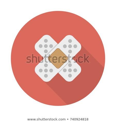 Medische gips icon stijl Geel Blauw Stockfoto © ylivdesign