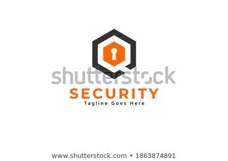 Technologii symbol wewnątrz sześciokąt projektu ikona Zdjęcia stock © user_11138126
