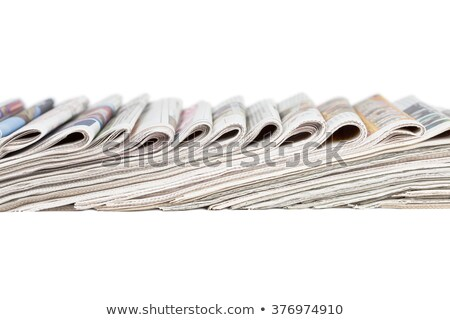 Válogatás összehajtva újságok izolált fehér üzlet Stock fotó © pakete