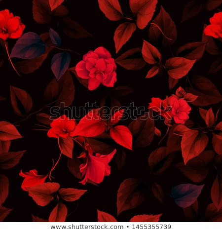 Vector floral seamless with red flower Stock photo © fresh_5265954