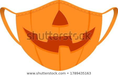 végtelen · minta · narancs · tökök · fekete · absztrakt · művészet - stock fotó © frescomovie