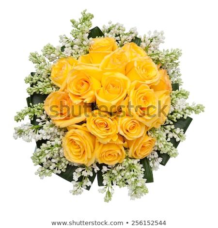 Sarı güller düğün gül yaprak Stok fotoğraf © tekso