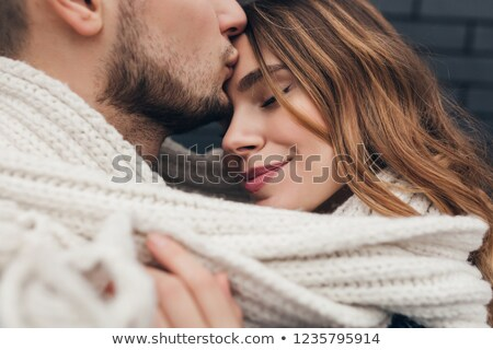 romantische · gelukkig · paar · straat · zomer - stockfoto © tekso