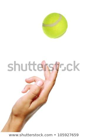 Hand Tossing Tennis Ball Stock photo © albund