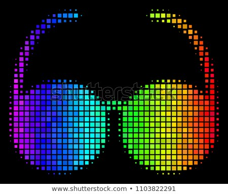Magnifying glass icon with shade on colored background Stock photo © Imaagio