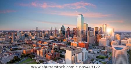 Dallas · Teksas · şehir · merkezinde · gece · gün · batımı · trafik - stok fotoğraf © brandonseidel