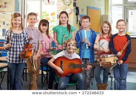 studentesse · giocare · strumenti · musicali · musica · classe · studente - foto d'archivio © wavebreak_media