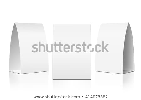 white paper stand table tag flyer vector stock photo © pikepicture