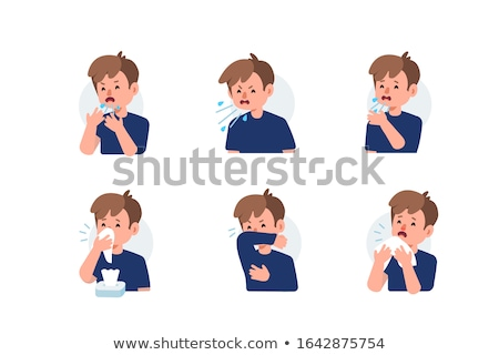 Sneezing with bacteria. Stock photo © Fisher