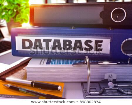 Bleu anneau base de données travail table Photo stock © tashatuvango