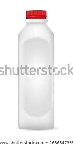 黒 プラスチック ボトル 赤 キャップ 白 ストックフォト © homydesign