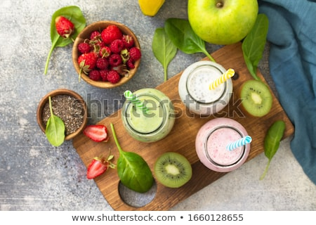 homemade detox drinks stock photo
