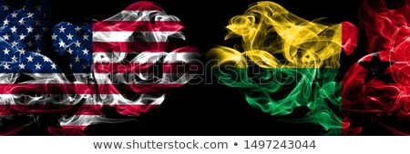 Futbol Alevler bayrak Gine siyah 3d illustration Stok fotoğraf © MikhailMishchenko