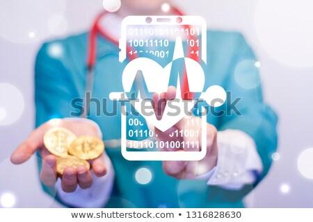 bitcoin heart cardiogram Stock photo © romvo