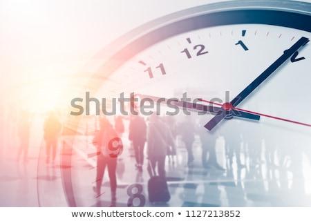Tijd werk creatieve foto geschilderd tools Stockfoto © Fisher