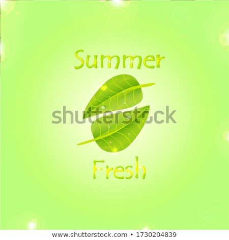 Stock photo: leaf logo. growing tree concept design. green and sunny color. l