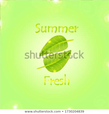leaf logo. growing tree concept design. green and sunny color. l stock photo © taufik_al_amin