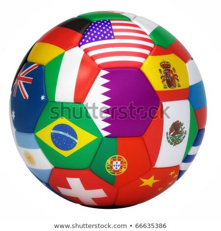 labda · futballabda · zászló · nap · sport · absztrakt - stock fotó © wetzkaz