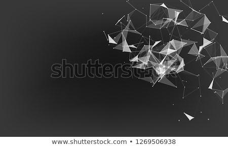vetor · geométrico · conexão · formas · internet · abstrato - foto stock © designleo