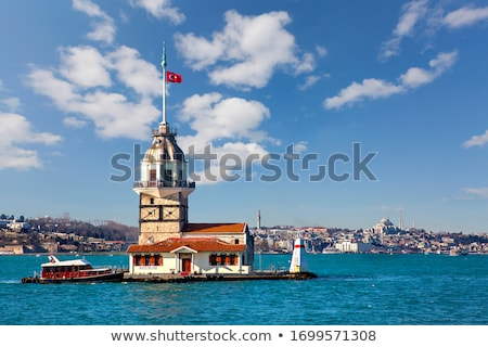 Maiden Tower in sea Stock photo © Givaga