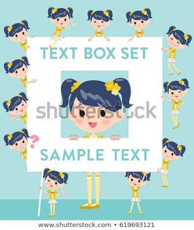 Pop ídolo amarelo traje texto caixa Foto stock © toyotoyo