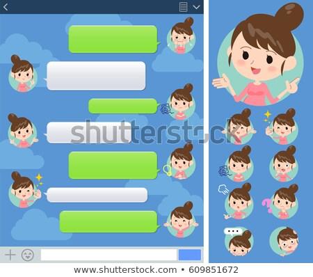 Zwangere vrouw venster ingesteld internet achtergrond Stockfoto © toyotoyo
