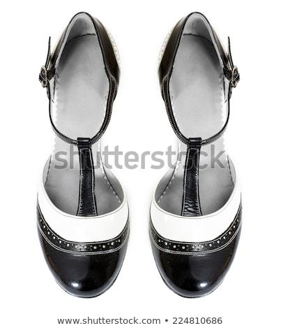 Feminino tango sapatos isolado branco projeto Foto stock © boggy