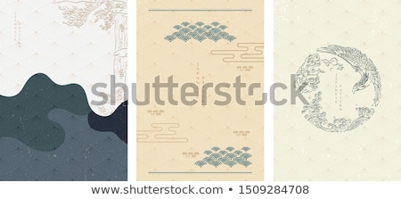 Blue Vectorized Ink Sketch of Eagle Illustration Stock photo © cidepix