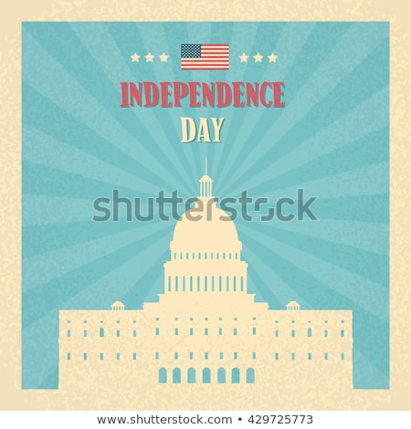 Stok fotoğraf: Mutlu · gün · posterler · Washington · ayarlamak · bayrak