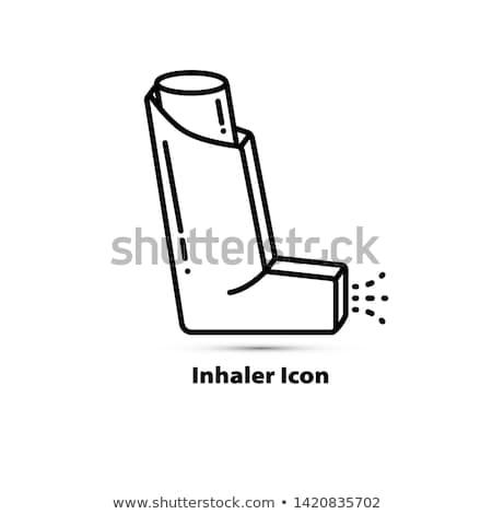 Médication affiche verre bouteille pilules capsules Photo stock © robuart