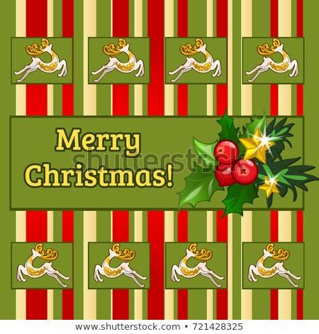Minta terv plakát új év karácsony rajz Stock fotó © Lady-Luck