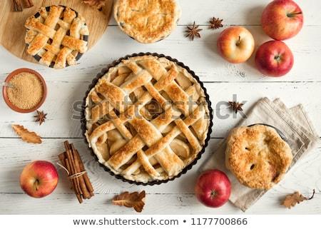 Ev yapımı elma tarçın kek organik elma Stok fotoğraf © mpessaris