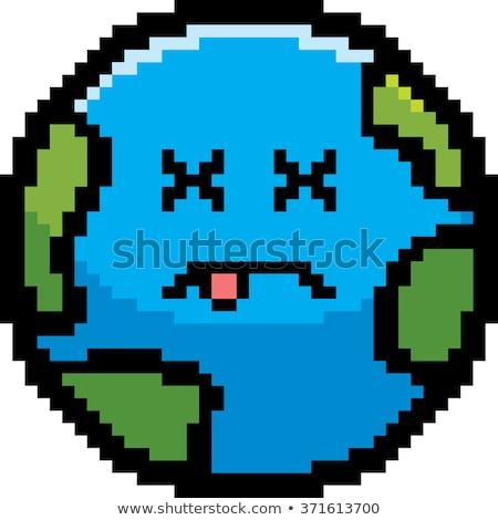 Muertos Cartoon tierra ilustración planeta tierra mirando Foto stock © cthoman