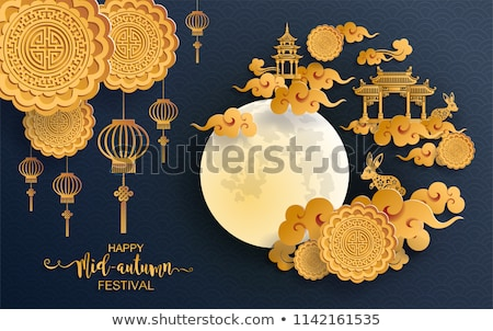 Mid Autumn Festival Posters Vector Illustration Stock photo © robuart