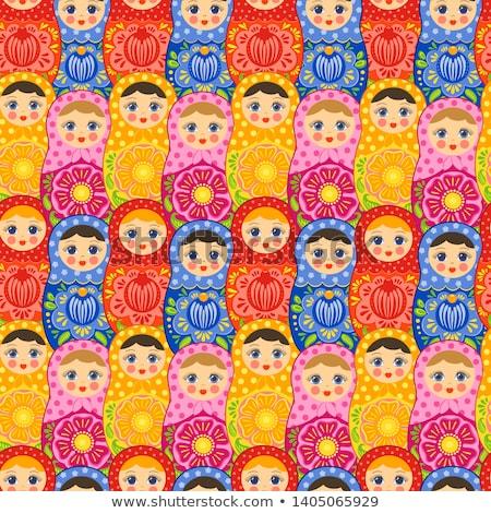 Traditional Russian Matryoshka Doll Illustration Stock photo © robuart