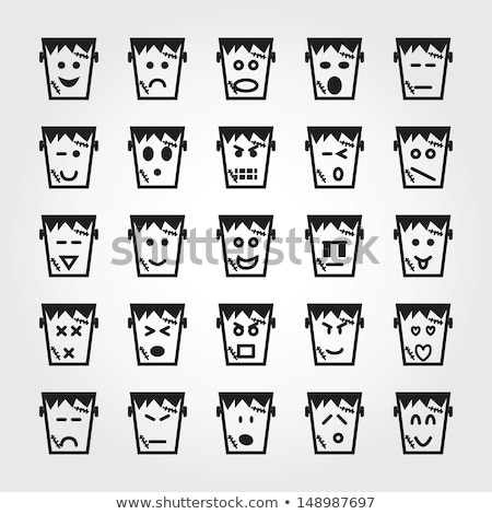 Cartoon s'ennuie illustration monstre regarder homme Photo stock © cthoman