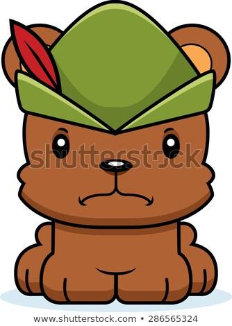 Cartoon Angry Robin Hood Bear Stock photo © cthoman