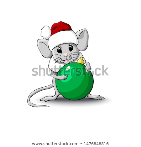 cute snowman smiles isolated on a white background sketch of christmas festive poster party invita stock photo © lady-luck
