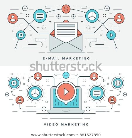 Video content marketing concept banner header. Stock photo © RAStudio