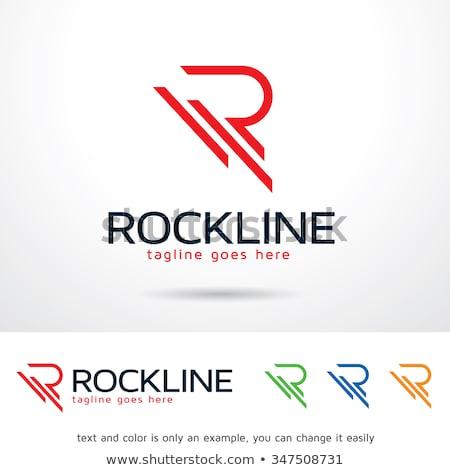 A letter R for rocks Stock photo © colematt